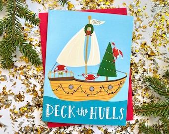 Crab Pun Christmas Card