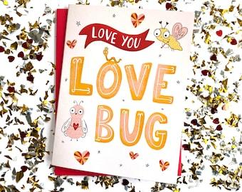 Love Bug Valentine, Valentines Day Cards, Valentines, Funny Valentines Day Cards, Cute Valentines Day Cards, Valentines Day Cards for kids