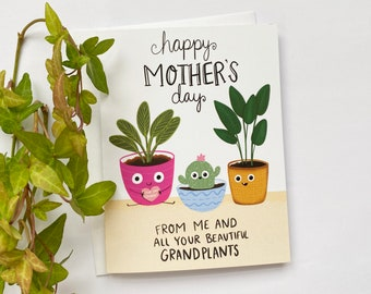 Funny Mothers Day Card, Plant Mom, Mothers Day Card Funny, Happy Mothers Day, Mothers Day Gift from Daughter, Mothers Day Gift From Son