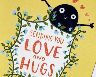 Sending Love and Hugs Card
