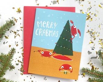 Crab Christmas Card