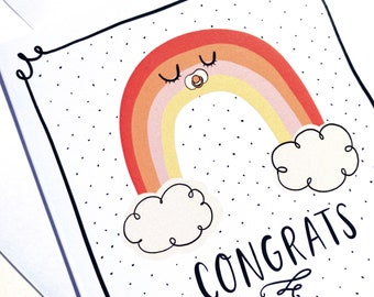 Baby Rainbow Congrats Card