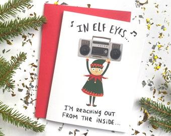 Say Anything Parody Elf Christmas Card