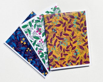 Flower and Leaves Notecard Set