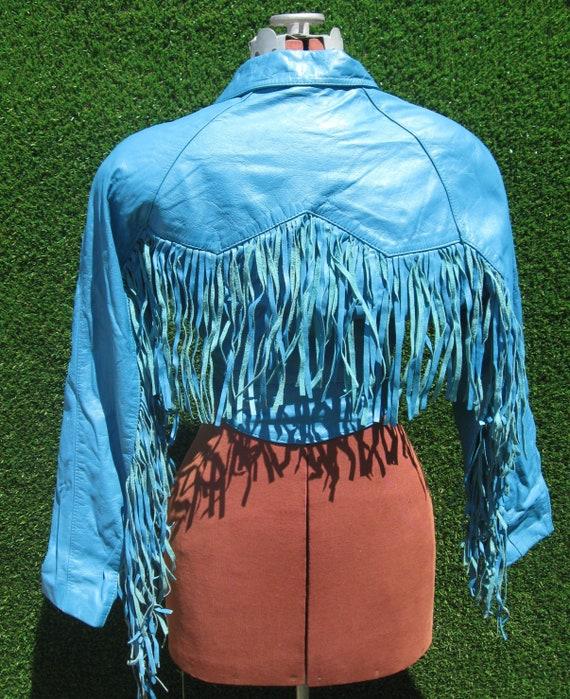 vintage 80's 90's CHIA fringe crop studded leather