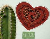 Gila Monster Biodiversity Sticker, Vinyl weather-resistant, Cute lizards, Lizard Heart, Desert Love, Conservation Charity, lizard graphic