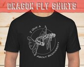 Give a F about Biodiversity Shirt- Dragonfly Sex, conservation research, cute comfy t-shirt, Funny Insect shirt, Dragonfly pun activewear