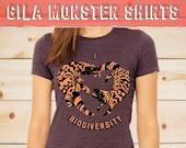 Gila Monster Love Shirt, Screen printed t-shirt, Cute lizards, Lizard Heart, I Love Biodiversity, Conservation Charity, cool lizard graphic