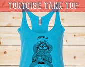 Tortoise love Tank Top, nature and biodiversity love, funny turtles, give a fuck about biodiversity shirt