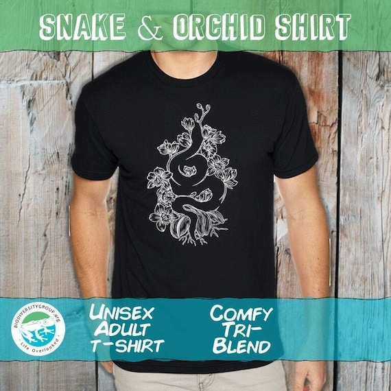 Snake and Orchid Shirt, Unisex