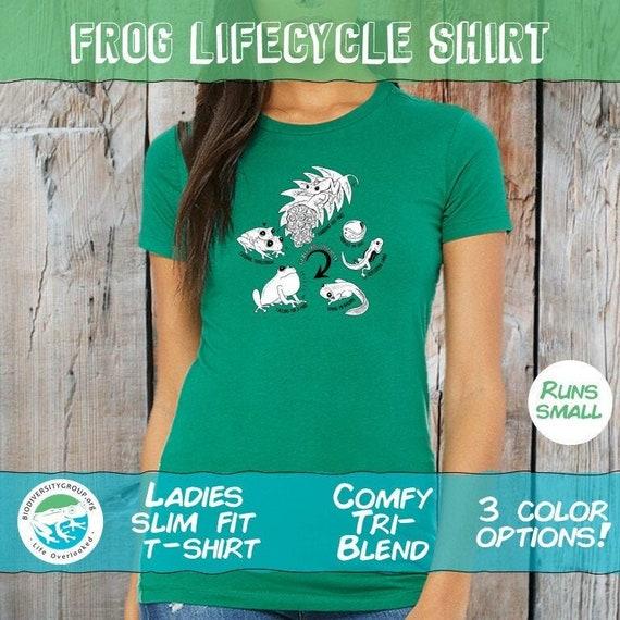 Ladies Glass Frog Lifecycle Shirt