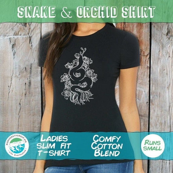 Ladies Snake and Orchid Shirt