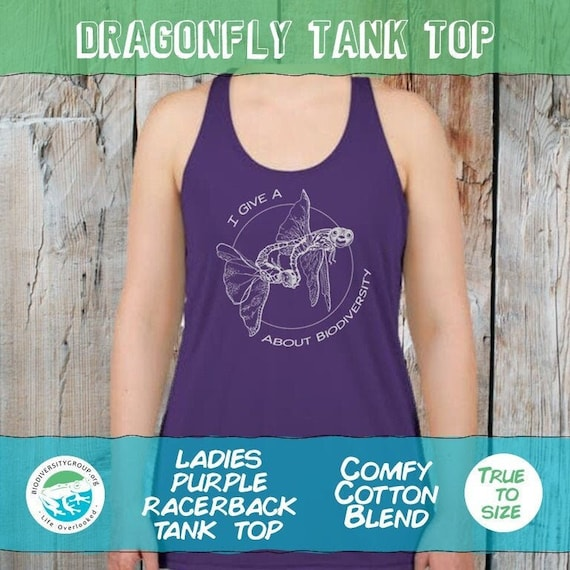 Dragonfly Tank Top, Give a F about Biodiversity Shirt