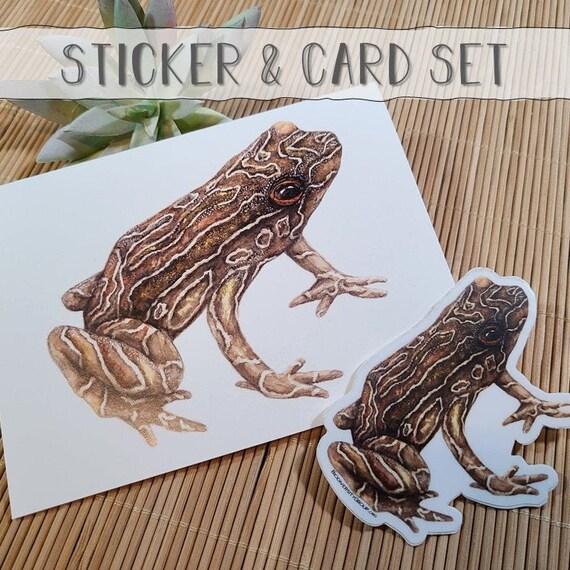 Toad Art Card & Sticker Set