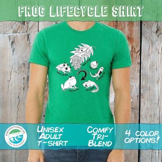 Glass Frog Lifecycle Shirt, Unisex