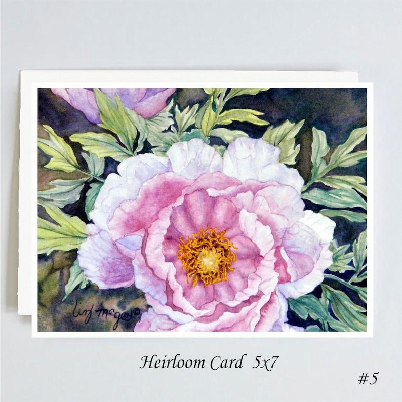 HEIRLOOM CARDS Choose from 15 Designs of Original Watercolor Art 5x 7