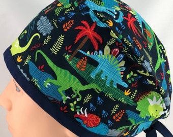 Details about  /Fossil Dinosaurs Men/'s Skull//Chemo Surgical Scrub Hat//Cap Handmade