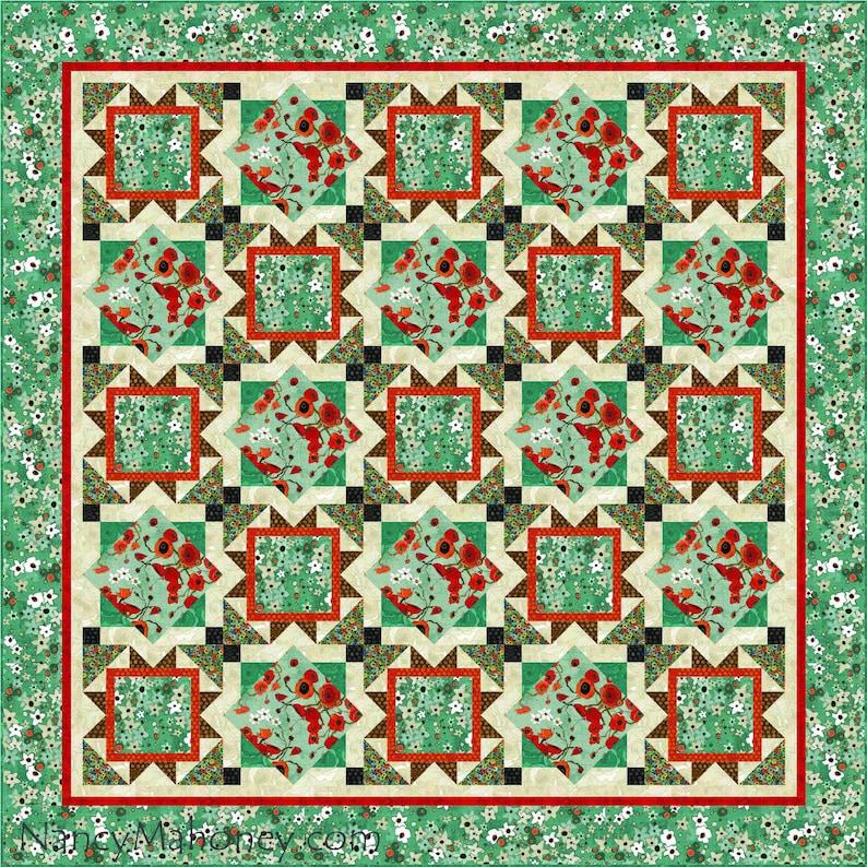 Gallery Garden quilt pattern digital