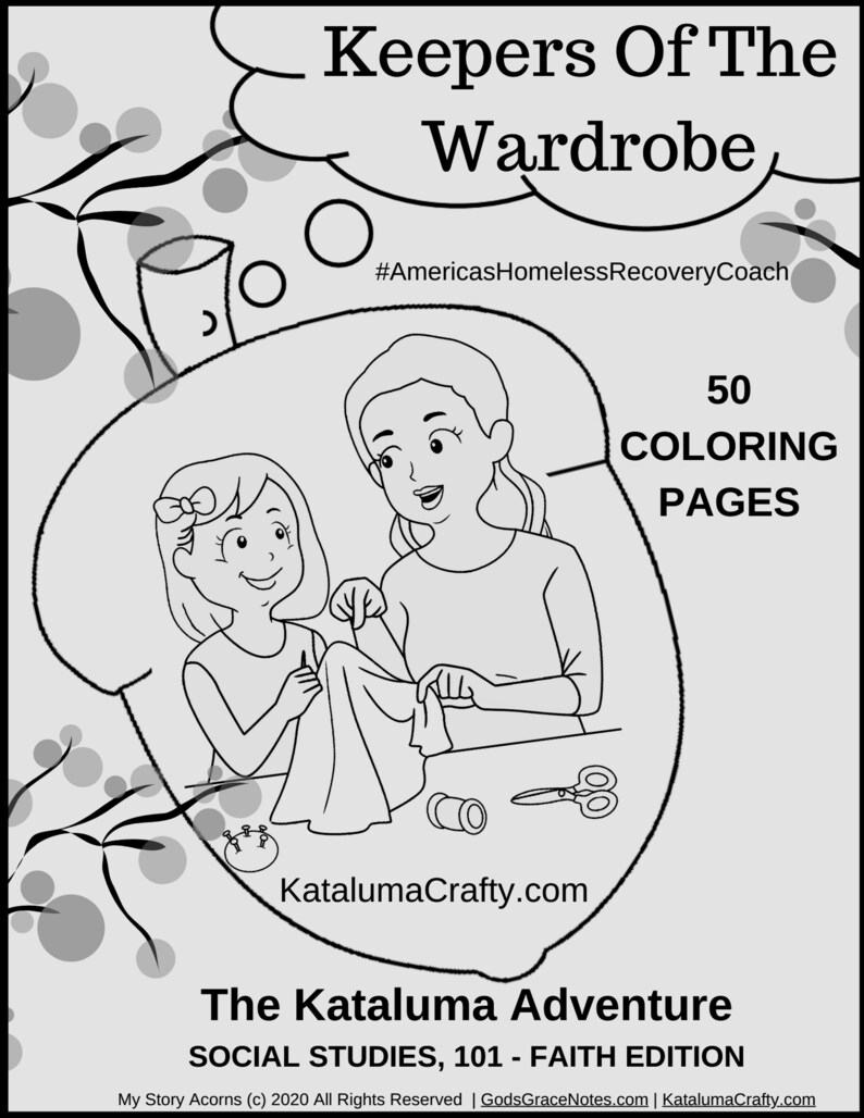 My Story Acorns  Story Book Coloring Pages  Girl's image 0