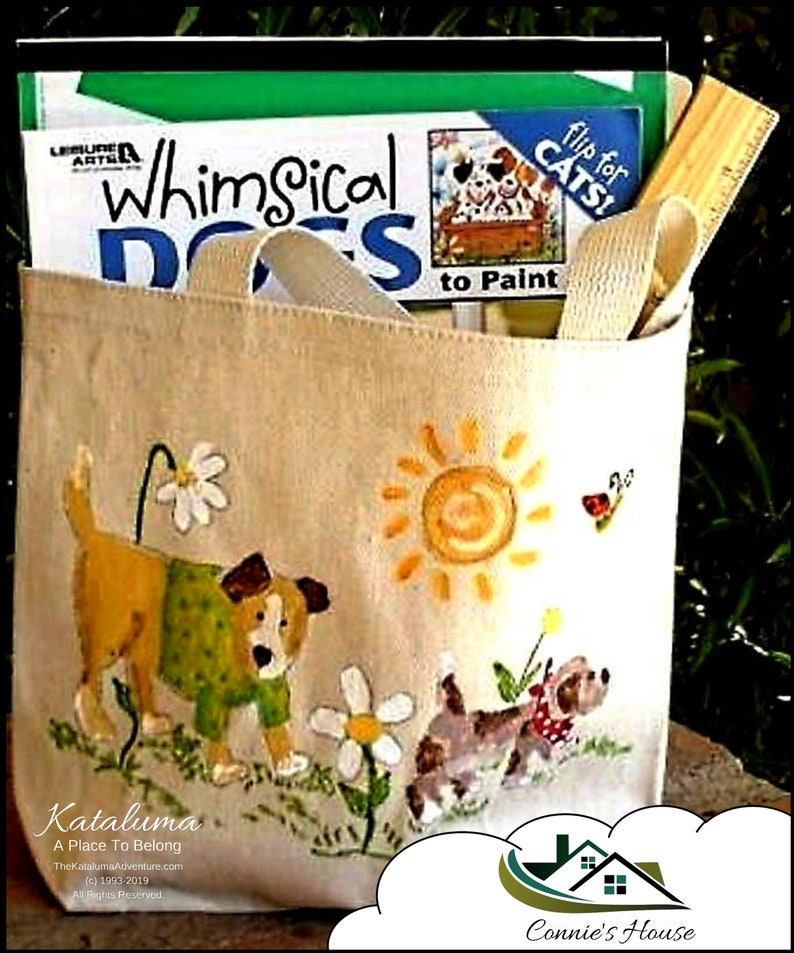 How To Paint Whimsical Pups & Kittens On a Canvas Totle image 0