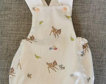 Gorgeous Vintage handmade Bambi baby harem romper playsuit size EU 6268-36 Months
