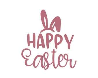 Hoppy Easter Easter Quote Wall Decal Vinyl Decal Car Decal Id004