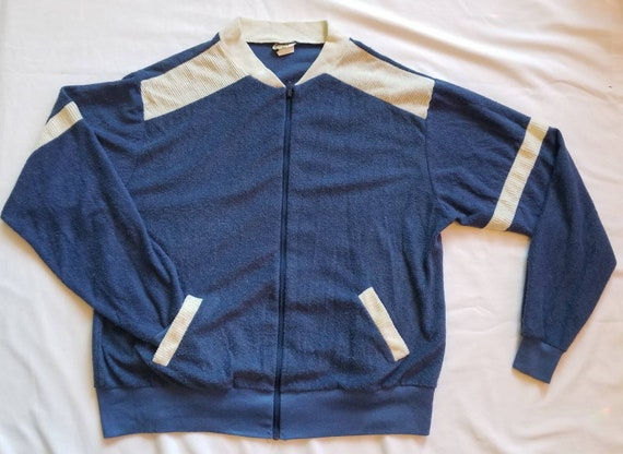 Vintage Terrycloth Zip-Up Jacket