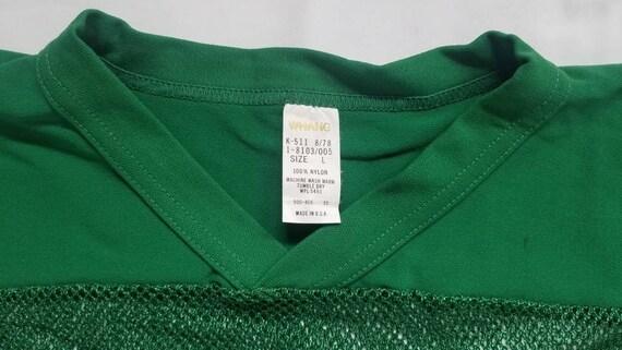 Vintage Green Mesh Football Shirt - image 3
