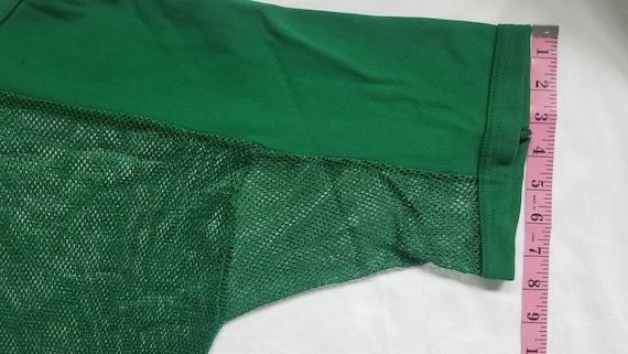 Vintage Green Mesh Football Shirt - image 7