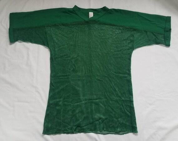 Vintage Green Mesh Football Shirt - image 1