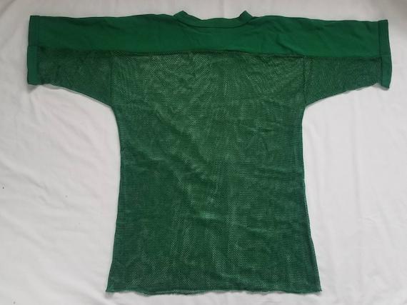 Vintage Green Mesh Football Shirt - image 2
