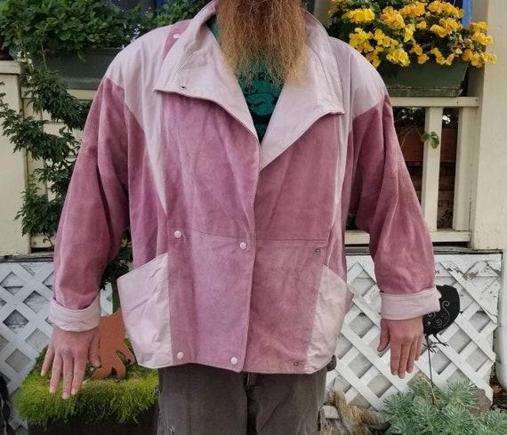 1980's Pink Men's Leather Jacket