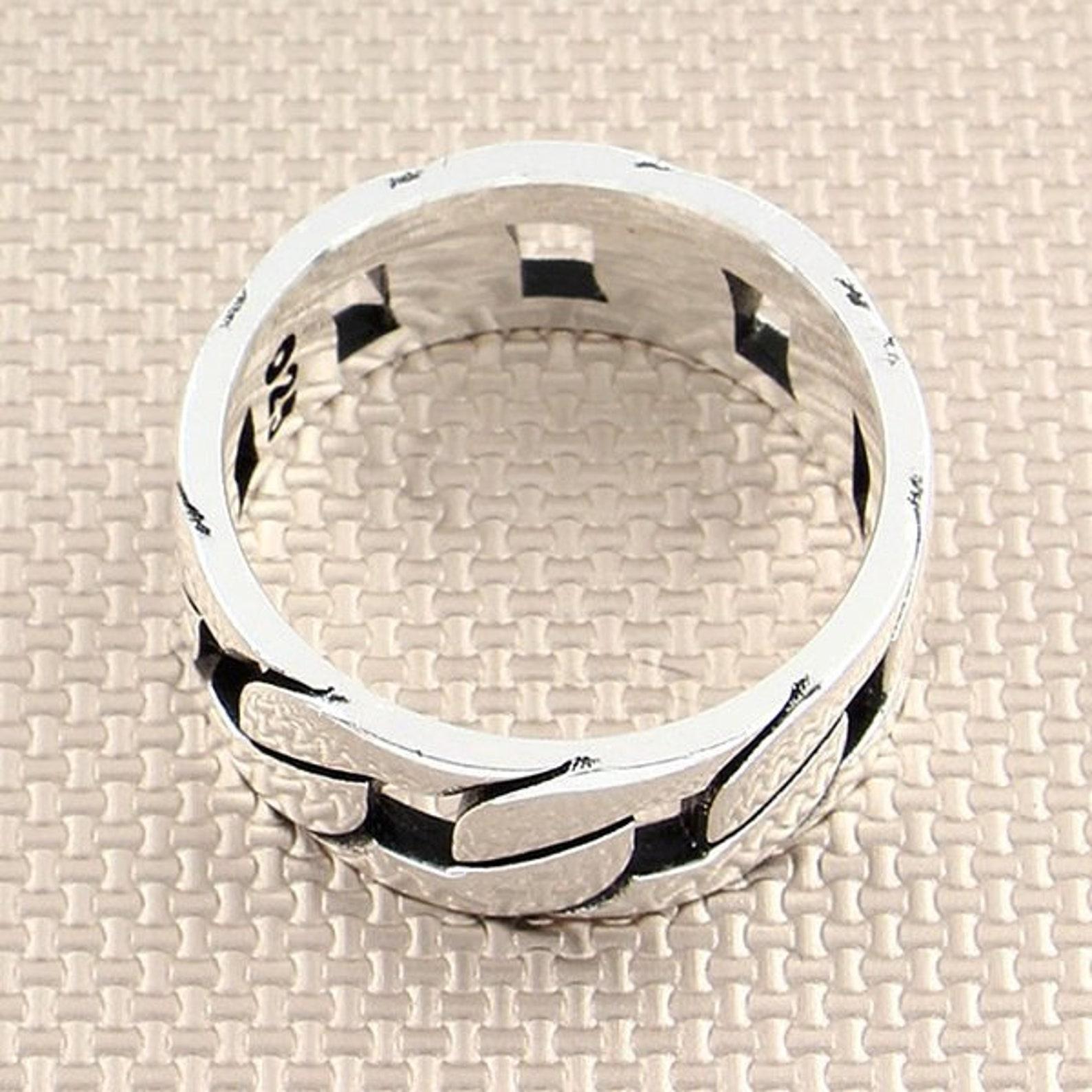Kette Modell Ehering Versprechen Ring für ihn 925 Silber
