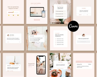 Canva IG Story Templates Phone Alert Graphics iPhone Reminder Money Print Instagram Post Templates Backgrounds Stickers Corjl Holo