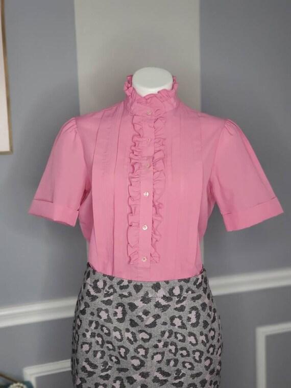 70s Button Up, Vintage Button Up Blouse, Romanian… - image 6