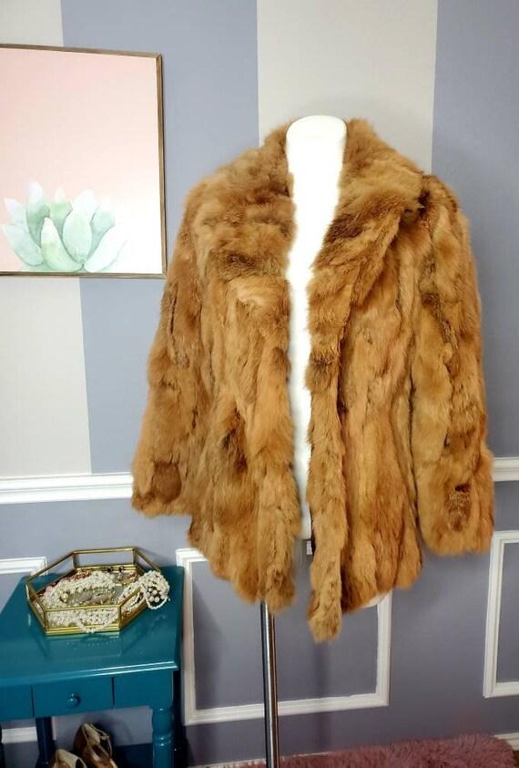 Vintage Coat,Bridal Fur Coat,Fur Coats Women,Rabbi