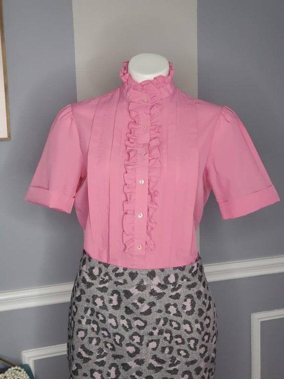70s Button Up, Vintage Button Up Blouse, Romanian… - image 1