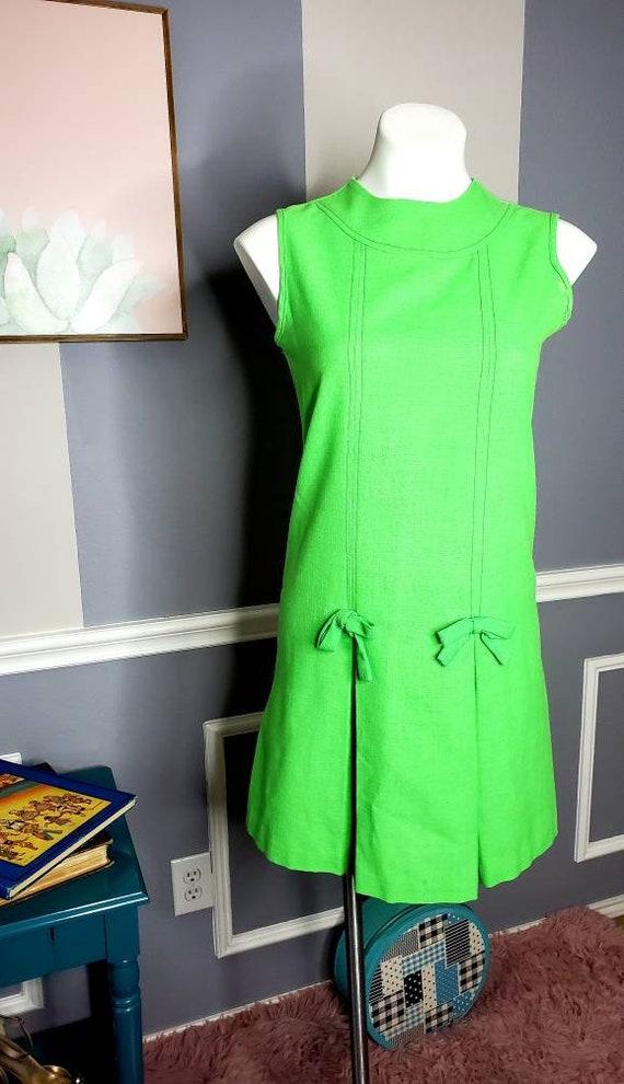 60s Chiffon Dress, 70s Chiffon Dress, Vintage Dat… - image 2