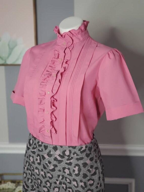 70s Button Up, Vintage Button Up Blouse, Romanian… - image 8
