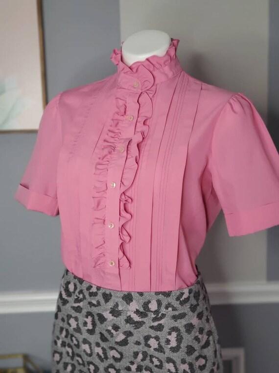 70s Button Up, Vintage Button Up Blouse, Romanian… - image 7