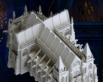 Gothic Cathedral, 28mm scale, by Alessandro Damiano
