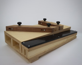 Ramped Shooting Board for your hand plane   Deluxe version   Woodworking Jig