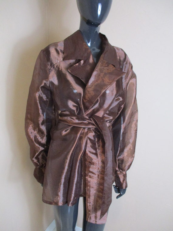 Women's vintage wrap shirt plus size.