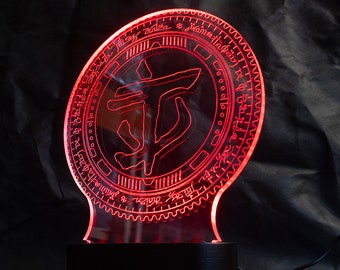 Doom Eternal Praetor suit token RGB lamp with remote controlled