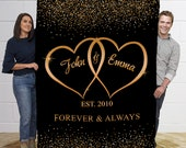 Personalized Blanket For The Closed One To Your Heart- Name Personalized Romantic Couples Blanket