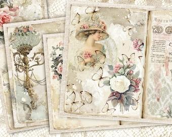 junk journal scrapbook paper  3D Flowers themed Paper Sets 100pcspack junk journal kit journal ephemera