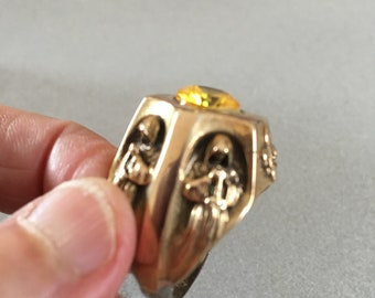Vintage creation - Templar ring on bronze and silver 925