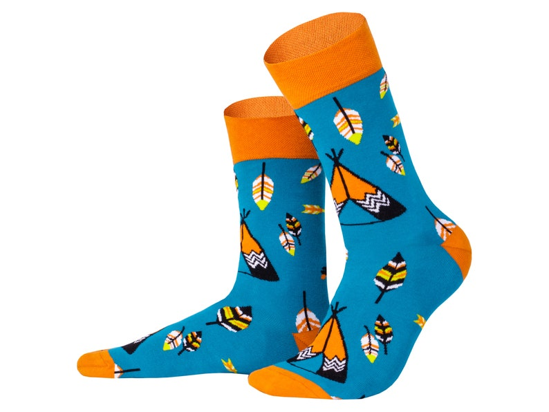 novelty socks Cool socks Pocahontas mismatched socks Creative collection knee high socks fun socks cute socks