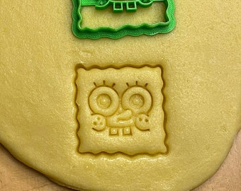 Spongebob 3D cookie cookie cutter incl grandma's cookie dough recipe shape / cookie cookie cutter / cookie cutter / biscuits / Christmas pastries