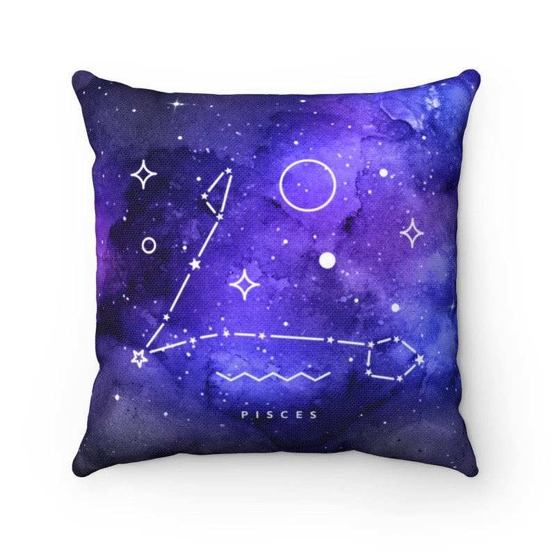Zodiac Sign Pisces Pillow Case Astrology Decoration Star Sign Galaxy Home Decor Celestial Constellation Horoscope Gift